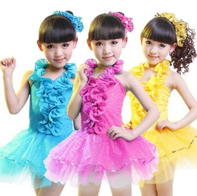cdd652c34 Children's stage performance clothing, girls dressing up costumes,sequined  dance dress,Latin skirt