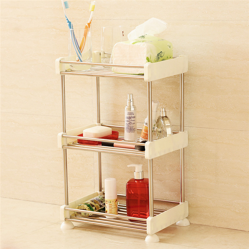 Bathroom Shelf Stainless Steel & ABS Bathroom Corner Kitchen Rack Storage Organizer Shower Rack Cocina Multipurpose White Shelf dehub super suction cup wlla mounted bathroom corner shelf shower organizer corner bathroom shelf shower rack bathroom rack