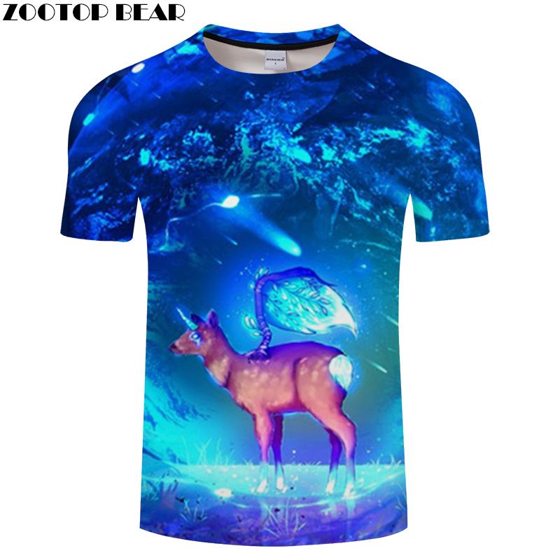 Digital 3D tshirt Men t-shirt Harajuku Tee Animal t shirt Printed Top Short Sleeve O-neck Camiseta 2018 New Drop Ship ZOOTOPBEAR