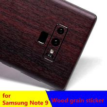 Wood Film Back Body Decal Wrap Protective Phone Skin Sticker For Samsung Note9/Note 8/ s8/s8+/s9/s9plus