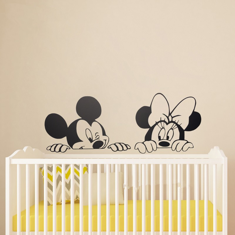 Mickey And Minnie Wall Stickers Peenmedia Com