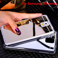 Chapeamento espelho suave tpu voltar case capa para samsung galaxy note 3 4 5 A5 A7 A8 J5 J7 2016 S3 S4 S5 S6 S7 Borda Mais Telefone case