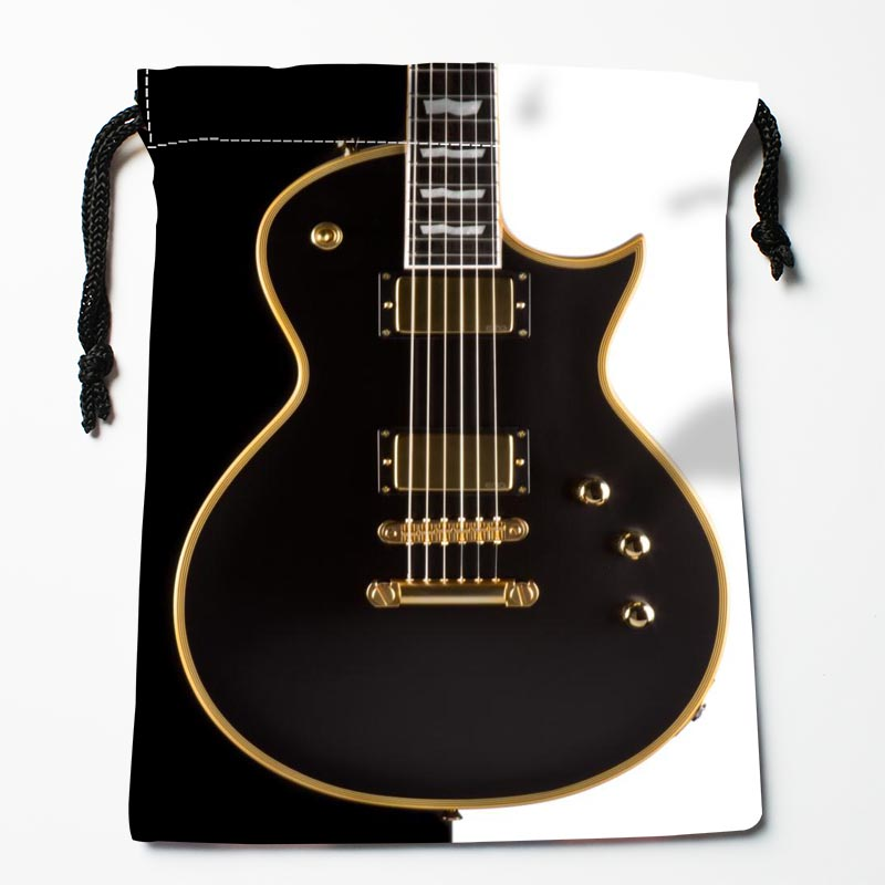 Custom Guitar Drawstring Bags Custom Printed Gift Bags More Size 27x35cm Compression Type Bags