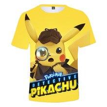 купить New Arrival Children POKEMON GO printed 3D T-Shirts Kids Summer Tops Girls Boys Short Sleeve T shirt Cute Pikachu Baby Clothes дешево