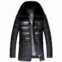 2017new Arrival Factory Direct Sales Leather Luxury Fur Collar Hihg Quality Men Down Jacket Winter Fashion