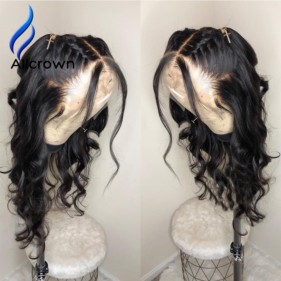 ALICROWN 13 6 Deep Part Lace Front Human Hair Wigs With Baby Hair Brazilian Body Wave