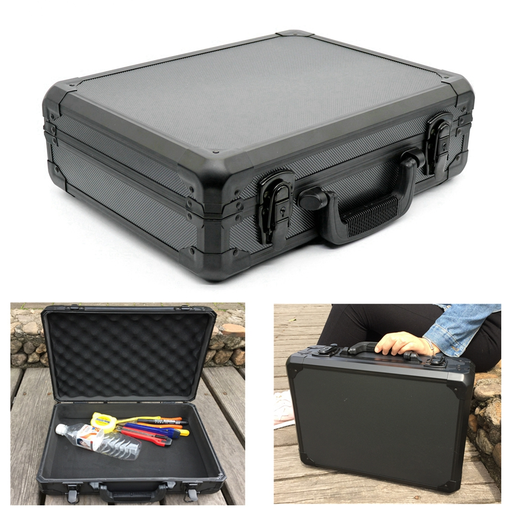 Portable Aluminum Tool Box Impact Resistant Safety Case with Pre-cut Foam Lining