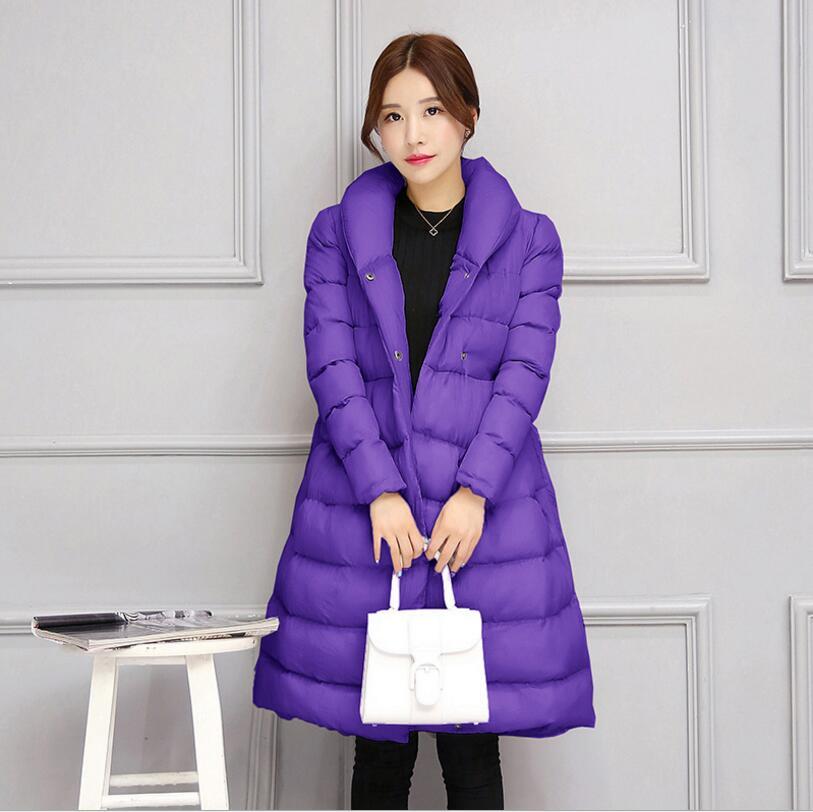 Down purple 2018 Vestes Survêtement Automne Slim Long red Mode R319 Jupe Manteau Gray Femmes Parka Cototn Avec black Nouveau Hiver De Ceinture RRAxrSP