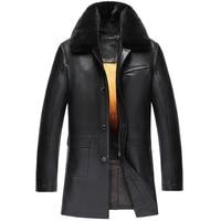Của nam giới Vàng Mink Lông Lót Da Cừu Áo Romovable Mink Fur Lót Parka Tùy Chỉnh Lần Lượt Down Mink Fur Collar Coat TJ15
