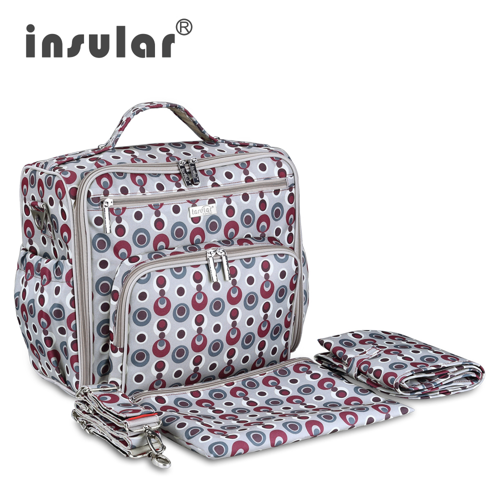 Insular New Arrival Baby Dipaer Backpack 100% Nylon Heavy Duty Mommy Nappy Backpack Diaper Bag