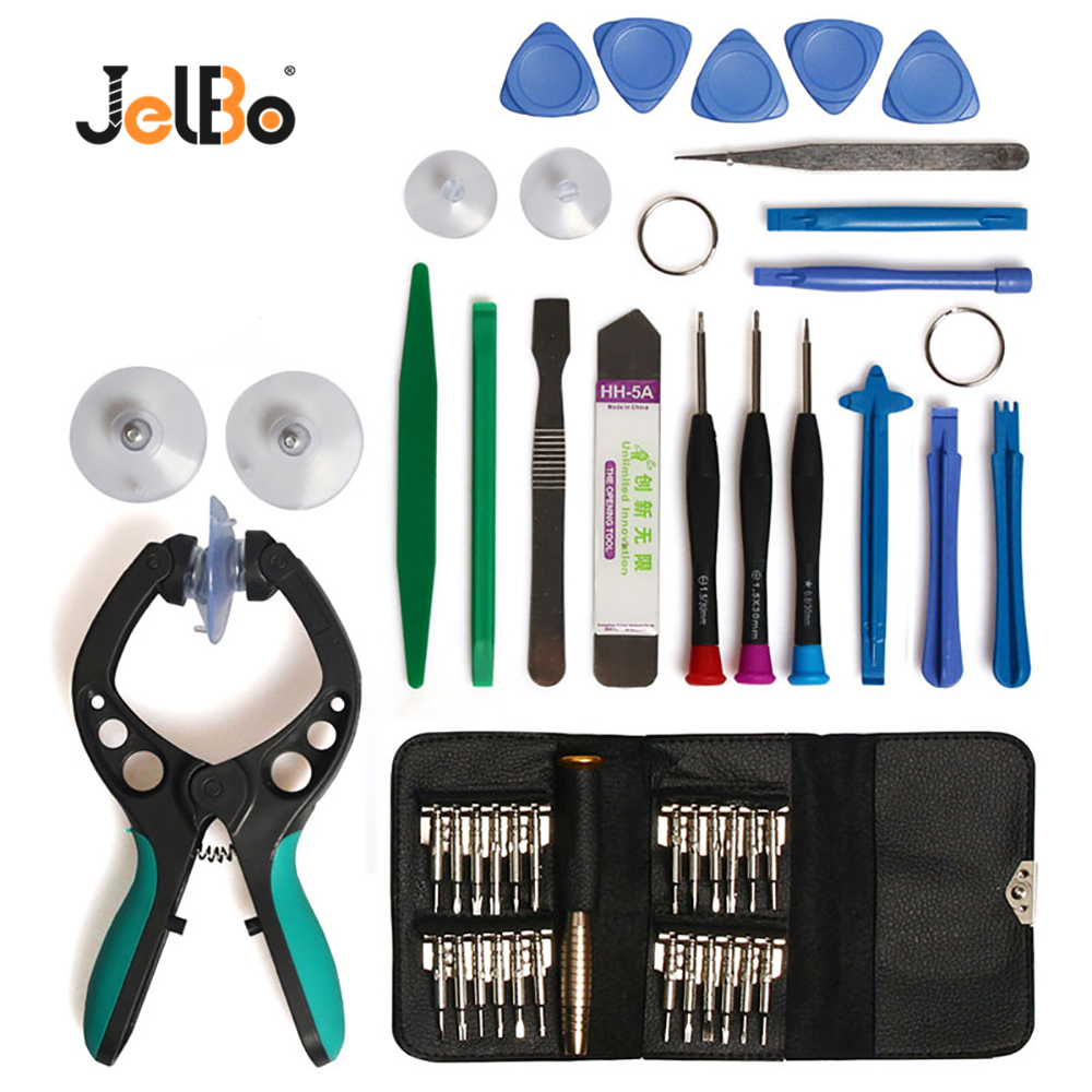 JelBo Mobile Phone Repair Tool Screwdriver LCD Screen Opener Plier Suction Cup DIY Electronic Repairing Hand Disassemble Tools
