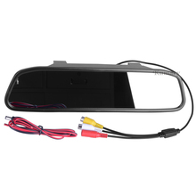 4.3 inch Car Rearview Mirror Monitor Rear View Camera CCD Video Auto Parking Assistance LED Night Vision Reversing Car-styling