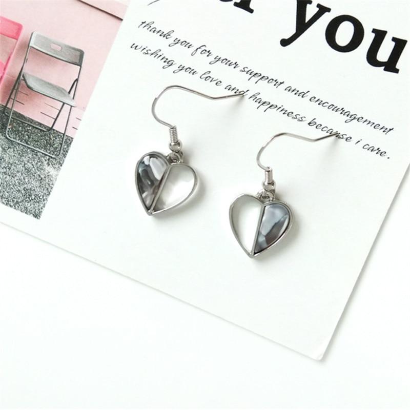 Fashion earrings geometry love heart Contrast color earrings personality Delicate earrings jewelry wholesale women 39 s statement in Drop Earrings from Jewelry amp Accessories