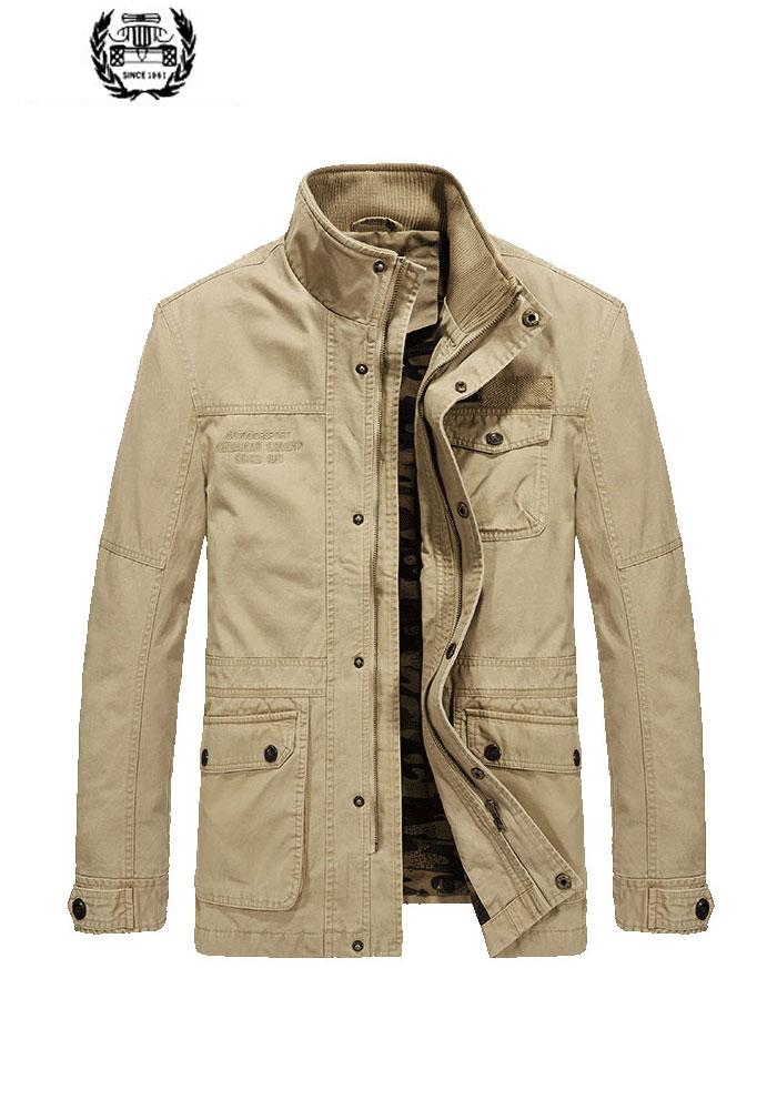 2019 nouveau automne printemps Cargo vestes manteaux lettre militaire col montant 4XL décontracté mode vestes manteaux affaires couleur unie
