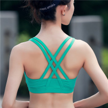 Sports Bras 2016 Vest Bra Hollow Out Sexy Women Fitness Bras Shockproof Underwear Running Vest Top Yoga Sports Bra