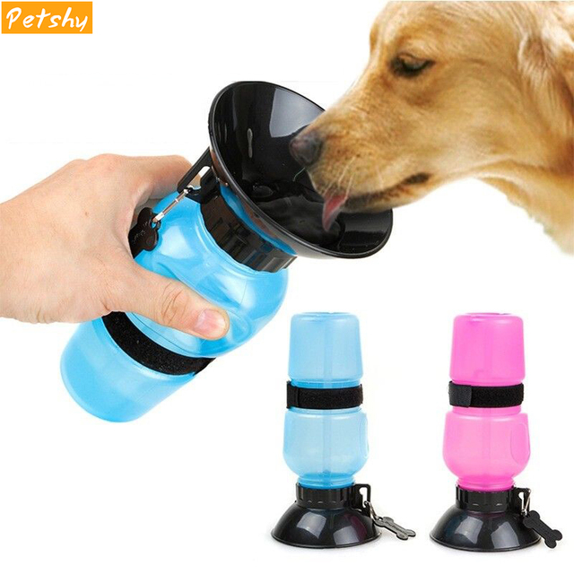 Creative 500ML Portable Pet Dog Water Bottle Travel Puppy Cat Drinking Bowl Outdoor Outside Pet Water Squeeze Dispenser Feeder