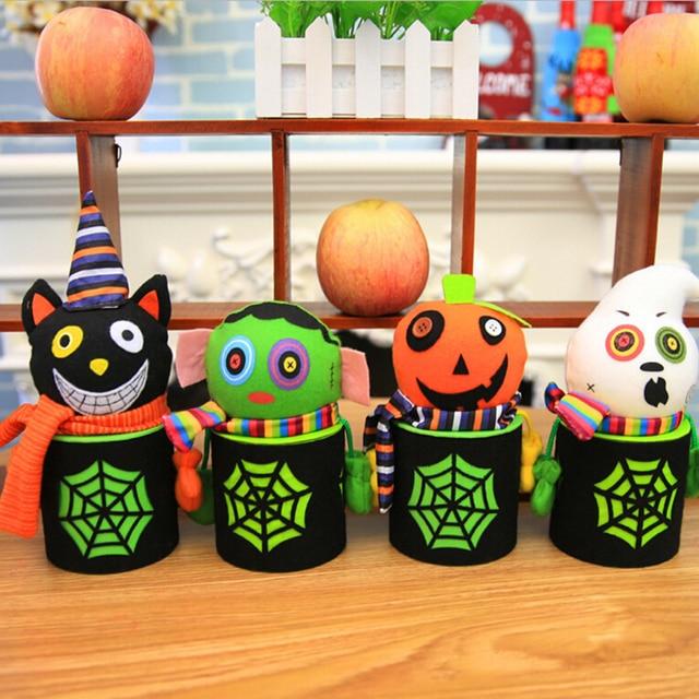 Halloween Snoep.1 St Halloween Snoep Blikjes Halloween Decoratie Creatieve Spinnenweb Ghost Mall Kleuterschool Geschenkdoos Bonbondoos In 1 St Halloween Snoep Blikjes