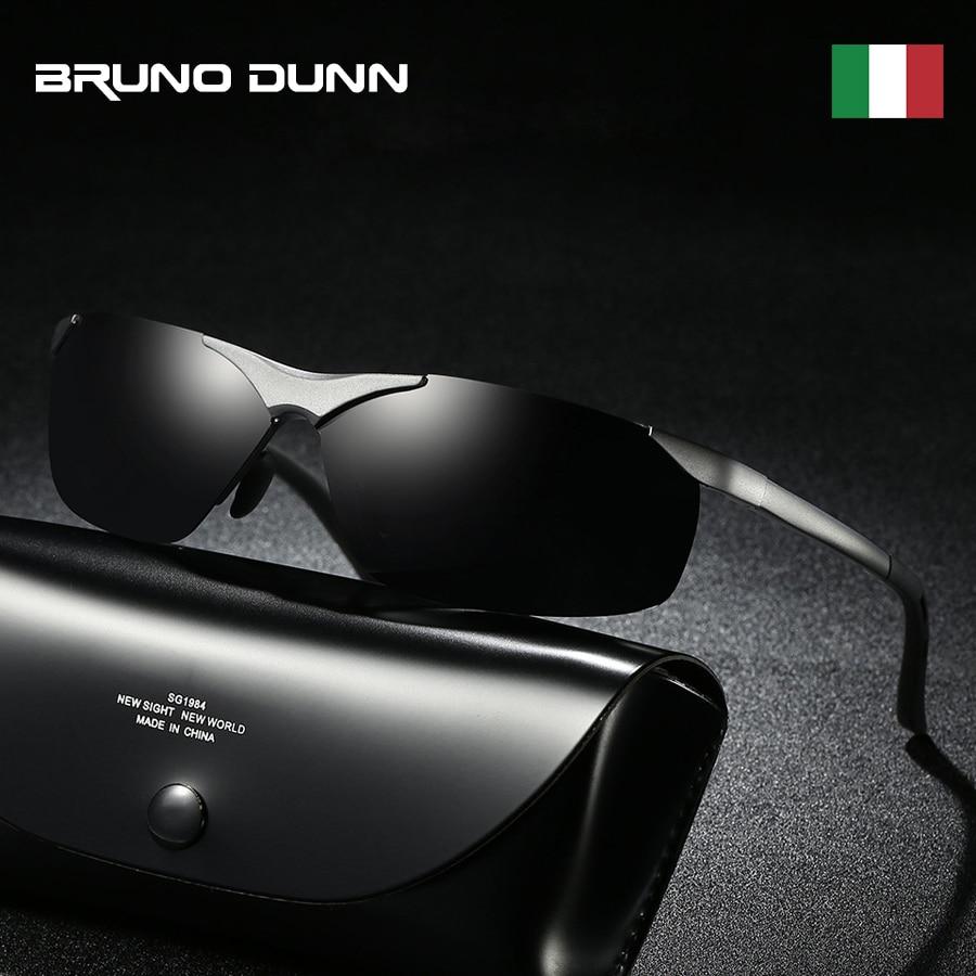 Bruno Dunn Aluminum Unisex Retro Sunglasses Polarized luxury Brand Design Driving night vision Sun glasses for Men/Women Oculos