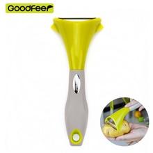 Здесь можно купить   GoodFoor Silicone Kitchen Tools Accessories Fruit Peeler Potato Peeler Cutting Fruit Vegetable Tools Stainless Steel Blade Kitchen,Dining & bar