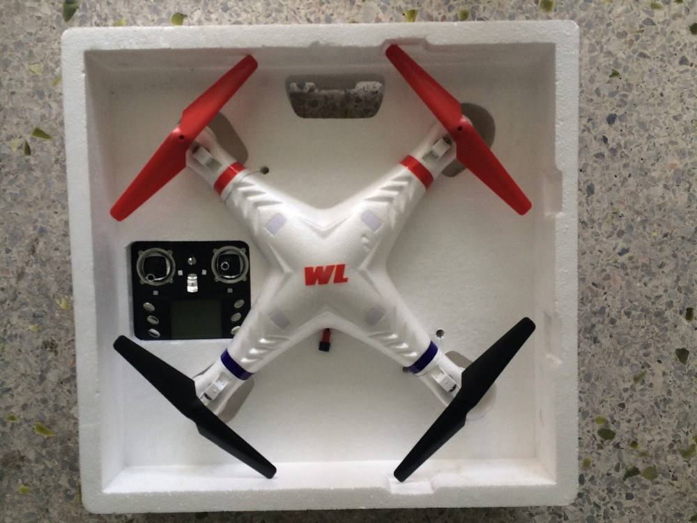 WLtoys Galaxy V353 EPP לצילום אווירי ראש במצב 2.4 G 4-CH LCD RC Quadcopter עב
