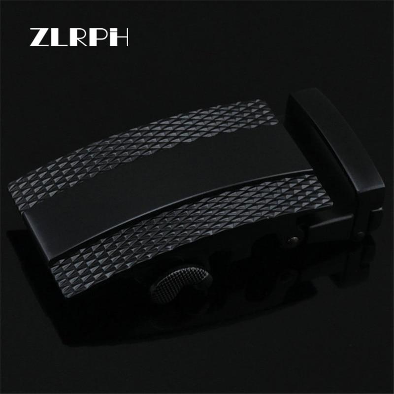 ZLRPH Fashion Designer Belts High Quality Alloy Buckle For Not Belt Body Sliding Buckle Ratchet Luxury Men Automatic Buckle