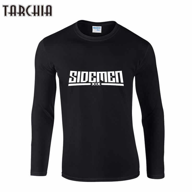 TARCHIA 新 2019 メンズカジュアル綿 Tシャツフィットネス SIDEMEN 長袖セクシーな O ネック Tシャツ夏 Tシャツオム