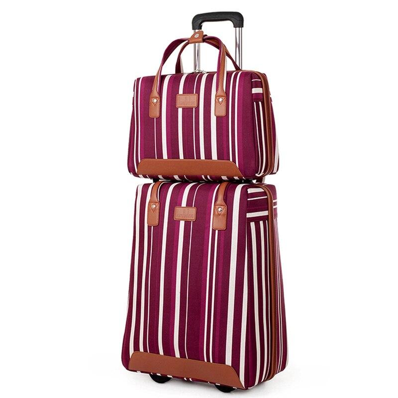 BeaSumore Oxford sac à main pour femme ensemble de bagages à roulettes voyage Duffle porter sur chariot mot de passe sac d'ordinateur hommes valises roue
