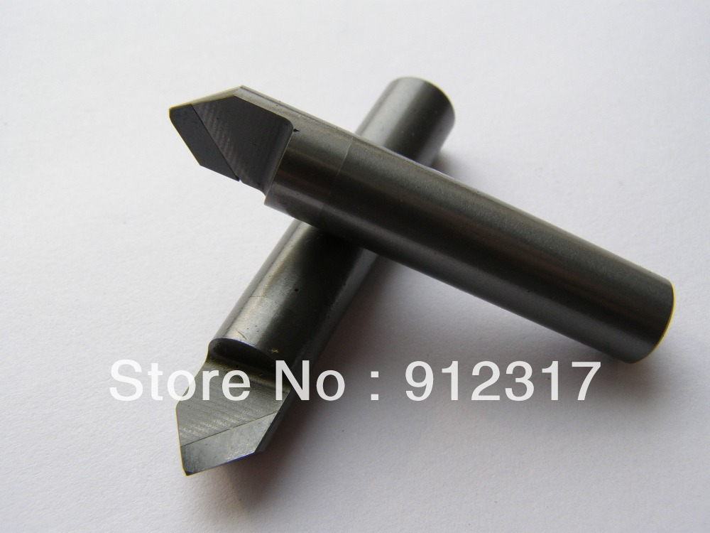 D6mm*L40*0.2*A70 Flat bottom Router Bits for Stone,PCD tools, Marble/Granite Engraving bits, Diamond End mills d6mm a90 0 4 stone engraving bits pcd diamond marble relief engraving tools