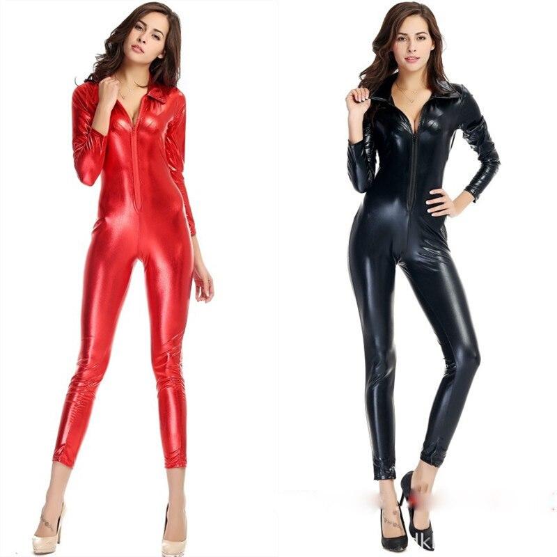 EL LOGO DE LA SEMANA - Página 6 Negro-Rojo-de-Cuero-Japanned-Vendaje-Del-Mono-De-Las-Mujeres-Clubwear-Sexy-Trajes-de-Lencer