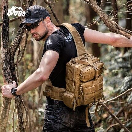 2018 nouveau militaire tactique assaut Pack fronde sac à dos armée Molle étanche EDC Airsoft sac en plein air randonnée Camping chasse 20L