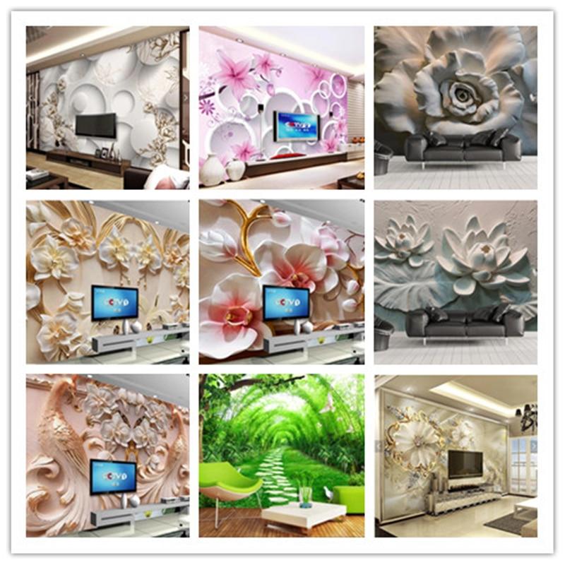 beibehang Custom wallpaper beautiful 3d photo mural HD original luxury 3D jewelry flower TV background wallpaper Original Image beibehang custom wallpaper 3d beautiful