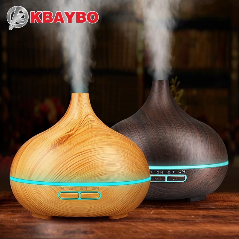 Olio essenziale Diffusore Ad Ultrasuoni Aromaterapia Umidificatore Purificatore D'aria per La Casa del Creatore della Foschia Dell'aroma Diffusore Fogger HA CONDOTTO LA Luce 300 ML