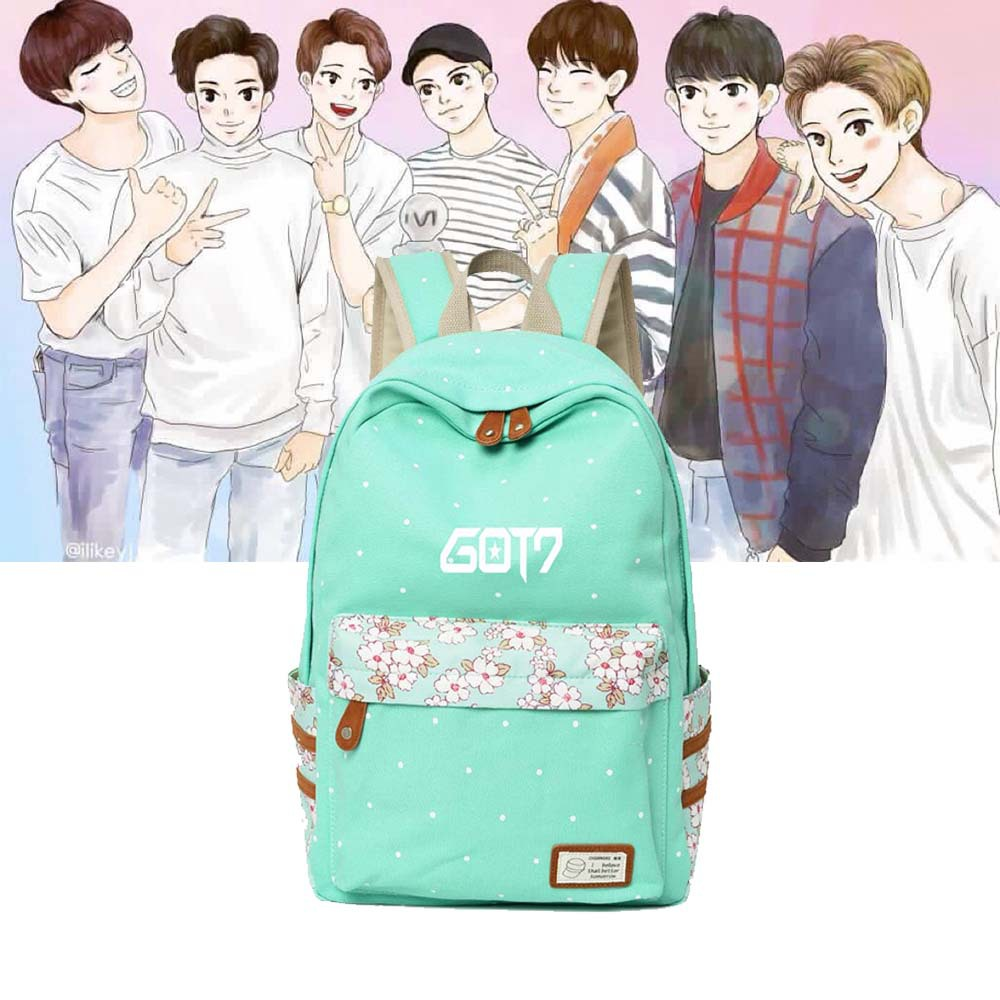 Radient Woman Backbag Got7 Zaino Per Scuola Seventeen Bolsas Do Bts Mochila Ortopedica Frauen Rucksack School Back Exo Backpack Twice Finely Processed Backpacks Men's Bags