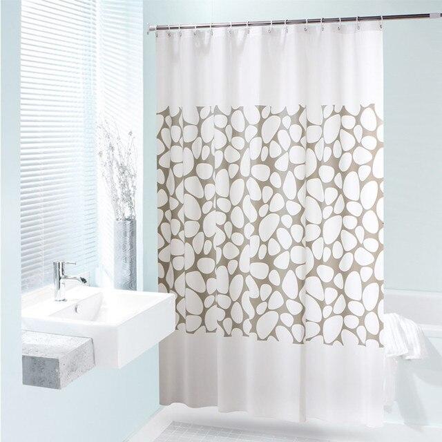 NEW Waterproof Shower Curtain Stone Printed Bathroom Cortina Ducha PEVA Fabric Home