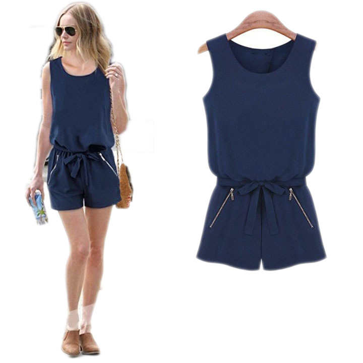 Summer Style elegant overalls shorts women rompers womens