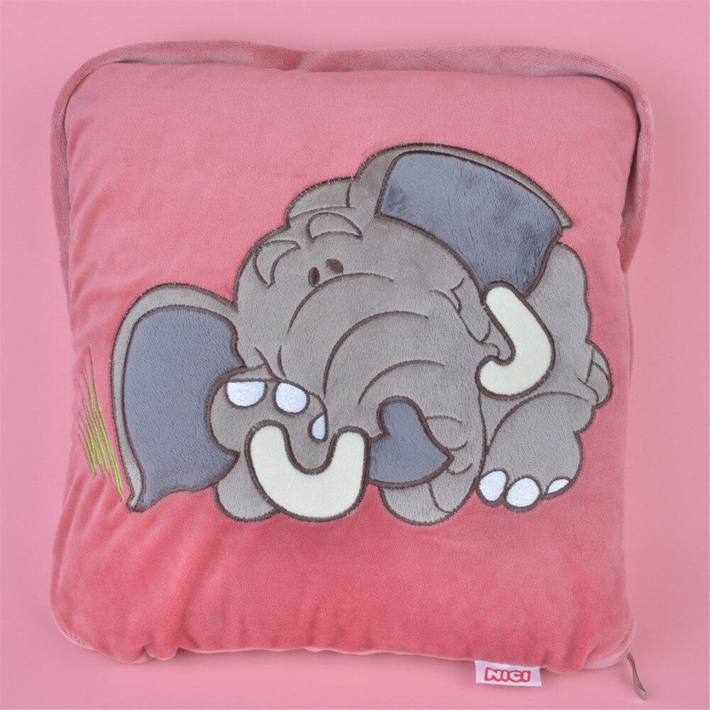 2 in 1 Multi function NICI Elephant Plush Cushion Kids Child Plush Blanket Pillow Gift Free