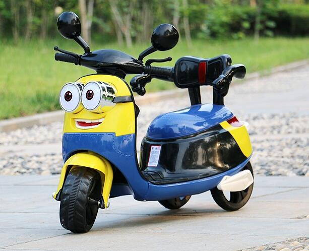 Free Shipping New Small Yellow Children Electric Three Wheel Motorcycle Can Sit Baby Stroller And Child Battery Car ...