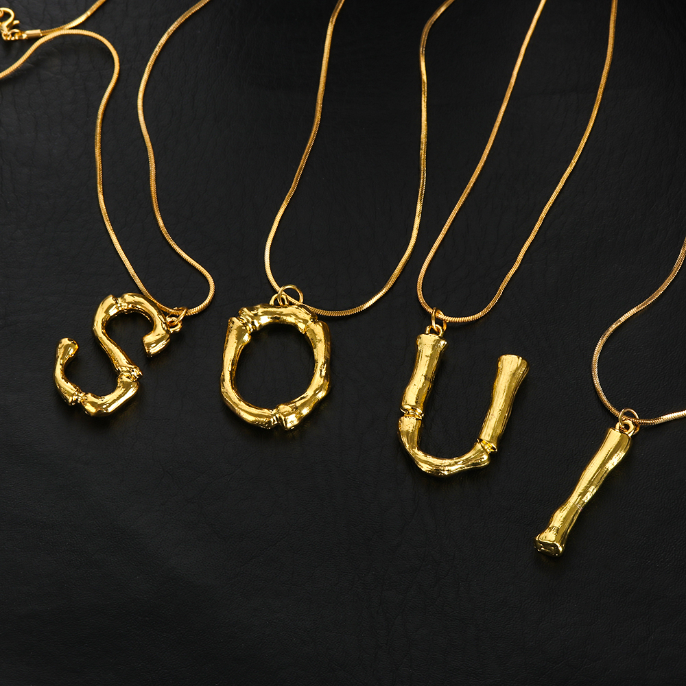 Gold Skeleton Dangling Movable Body Rhinestone Crystal Pendant Necklace P642