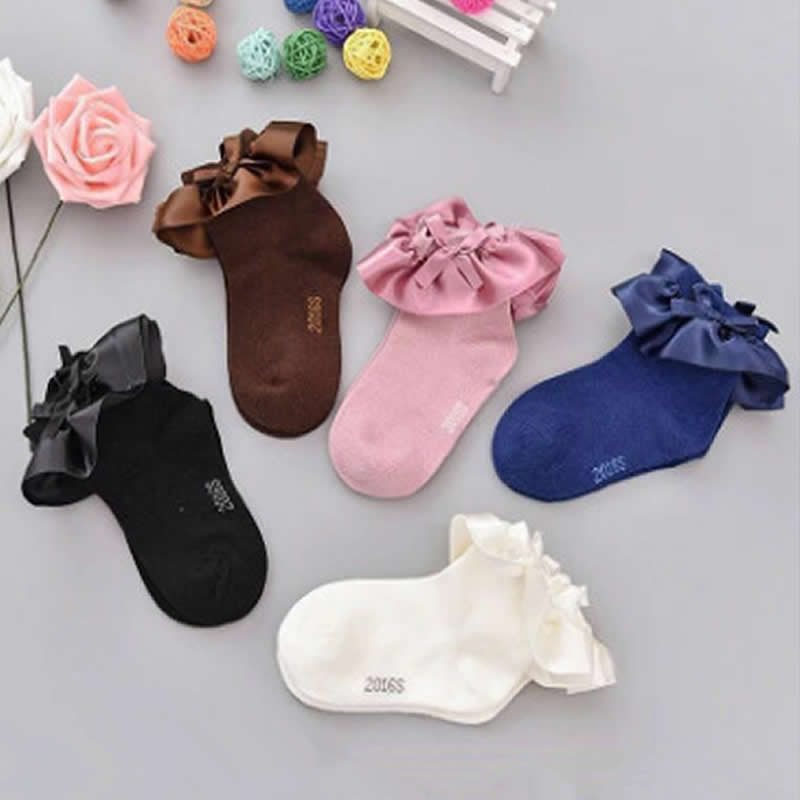 Girls Socks Princess Female Treasure Princess Lace Lovely Cotton Boot Socks Party Wear Children Baby Girl Short Sock