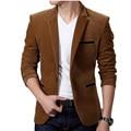 2016 nueva llegada de Los Hombres Traje Chaqueta de Los Hombres Blazer Masculino Un Botón de la Chaqueta Trajes de chaqueta de Color Sólido Ocasional