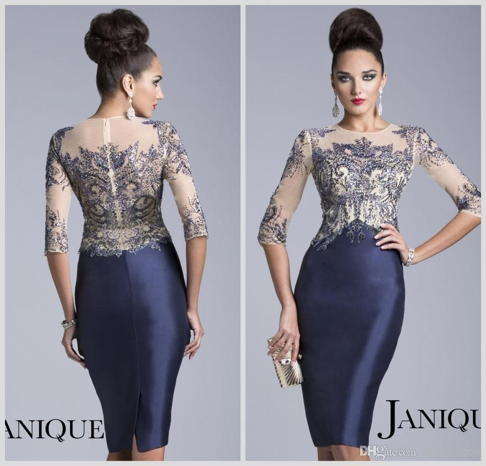 4%20Long%20Sleeve%20Sheer%20Crystal%20Beaded%20Knee%20Length%20Evening%20Mother%20Dress