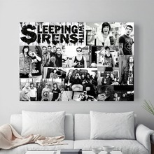 Sleeping Sirens Vintage Canvas Painting Wall Art Nordic Decoration Home Modern Poster For Living Room Unframed Print Pictures