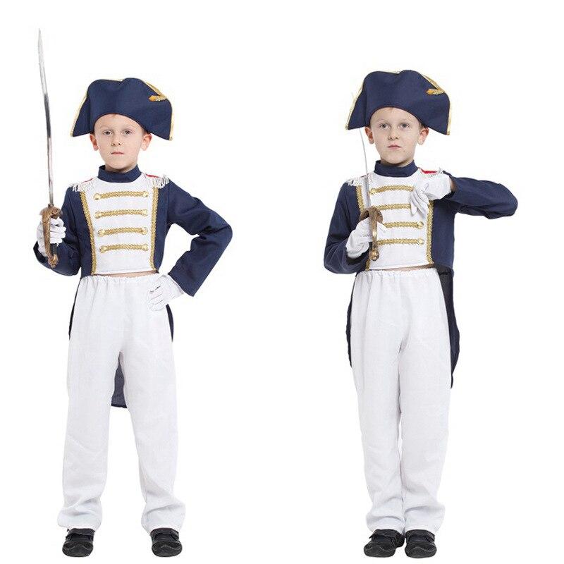 Halloween Cosplay Costume Children Little Napoleon Long Acting Costume аксессуары для косплея neko cosplay