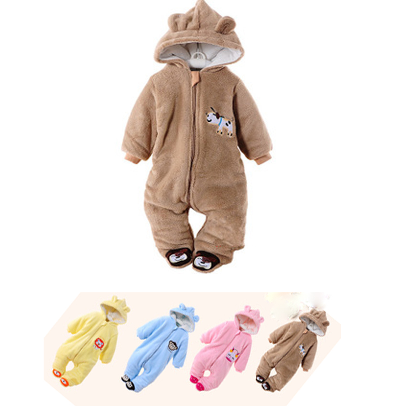 Autumn Winter Coats Baby Clothes Baby Rompers Polar Fleece Baby Clothing Infant Jumpsuit Clothes One Piece Romper Boy&Girl bebe baby rompers baby winter coveralls infant boy girl fleece romper ropa nena invierno knitted stripe jumpsuit bebe newborn outwear