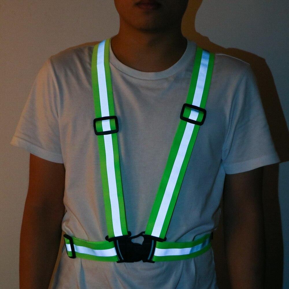 High visibility outdoor safetyvest reflective belt safetyvest fit for runningHGU