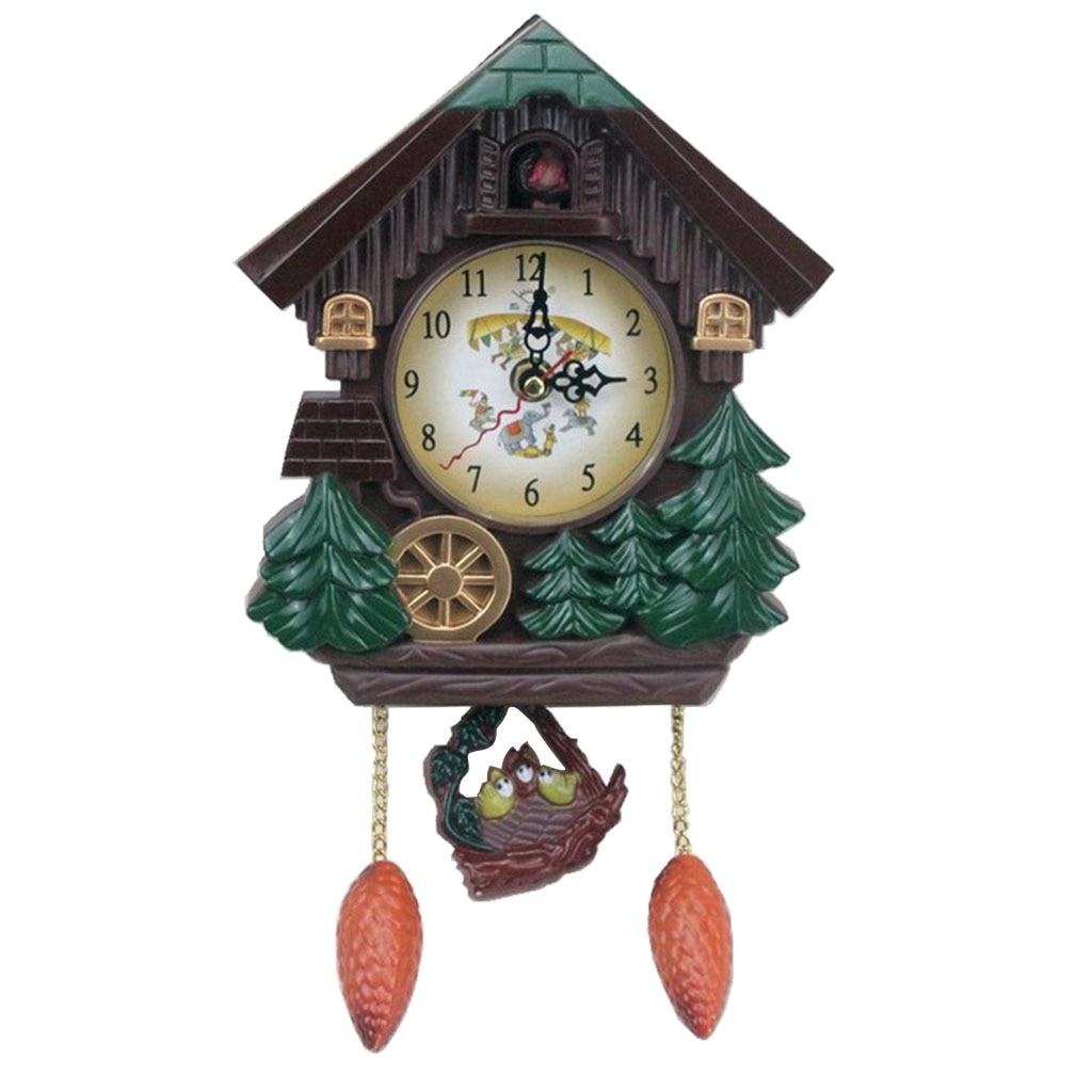 Vintage Cuckoo Wall Clock Intelligent Tell Time Alarm Clock Decorative Clock For Children Room Wall Clocks Aliexpress