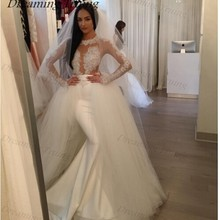 dreaming truing Mermaid Wedding Dresses Long Sleeve