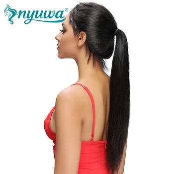 NYUWA Droite Avant de Lacet Perruques de Cheveux Humains Pré Pincées Avec bébé Cheveux Sans Colle Avant de Lacet Perruques Noeuds Blanchis Brésiliens Remy cheveux