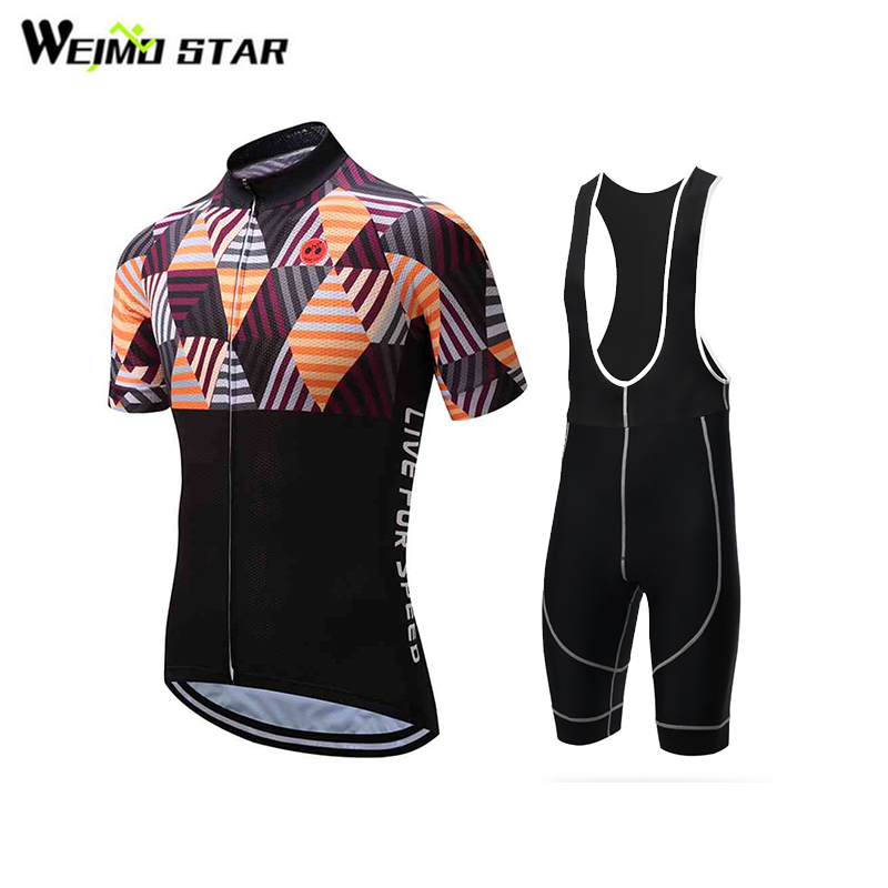 Cycling Jersey WEIMOSTAR Men Outdoor Summer Short Sleeve Cycling Clothing Summer Bicycle Clothes Bib Shorts Suit nuckily ma008 mb008 men short sleeve bicycle cycling suit