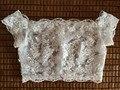 Total de New Style Pescoço Da Colher Mangas Longas Acessórios Do Casamento Jacket Bridal Bolero Lace Shawl Wraps Capes Marfim Branco